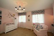 pink + navy nursery