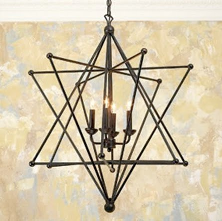 design dump: affordable*find: star chandelier