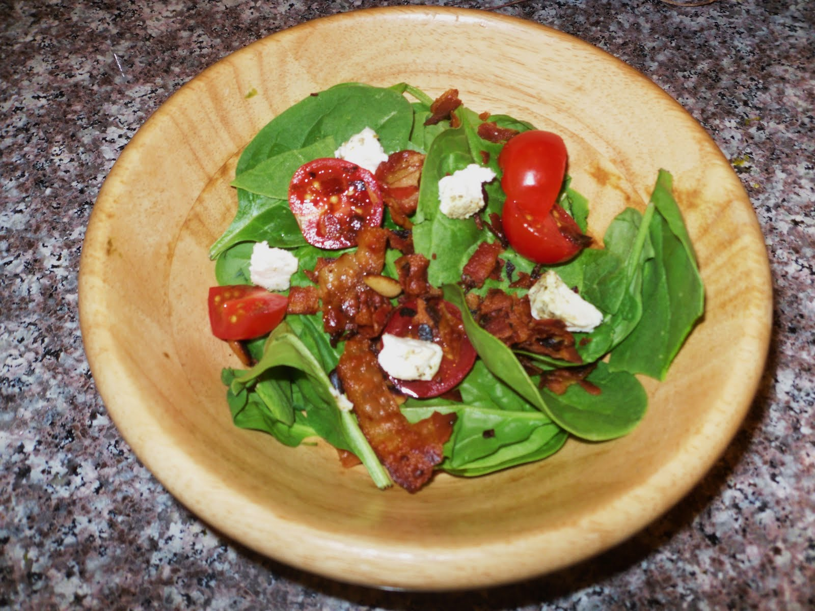 Becky's Joy Bistro: Warm Spinach-Bacon Salad with Goat ...