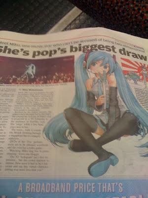 Hatsune Miku in news Metro Inglaterra