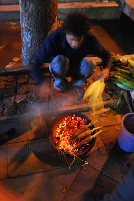 Barbequed corn on Vali Asr