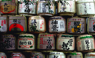 Sake at Matsuo Shrine