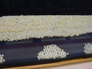 Cultured pearls at the Mikimoto Pearl Museum