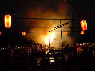 Fireworks at Tsushima Festival