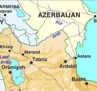 Ardebil Province map