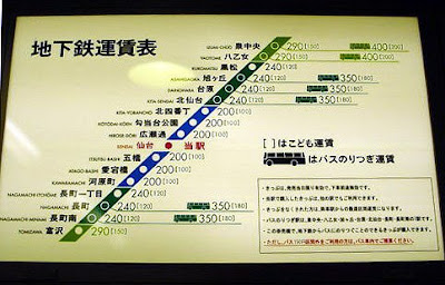 Sendai Subway Map