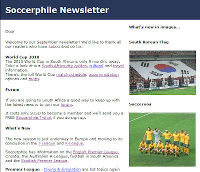 Subscribe To The Soccerphile Newsletter