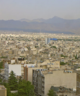 Looking Down on Tehran, Iran