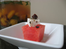 watermelon & feta squares