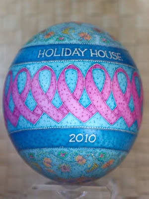 Pink Ribbon Pysanky for the Susan G. Komen Holiday House 2010