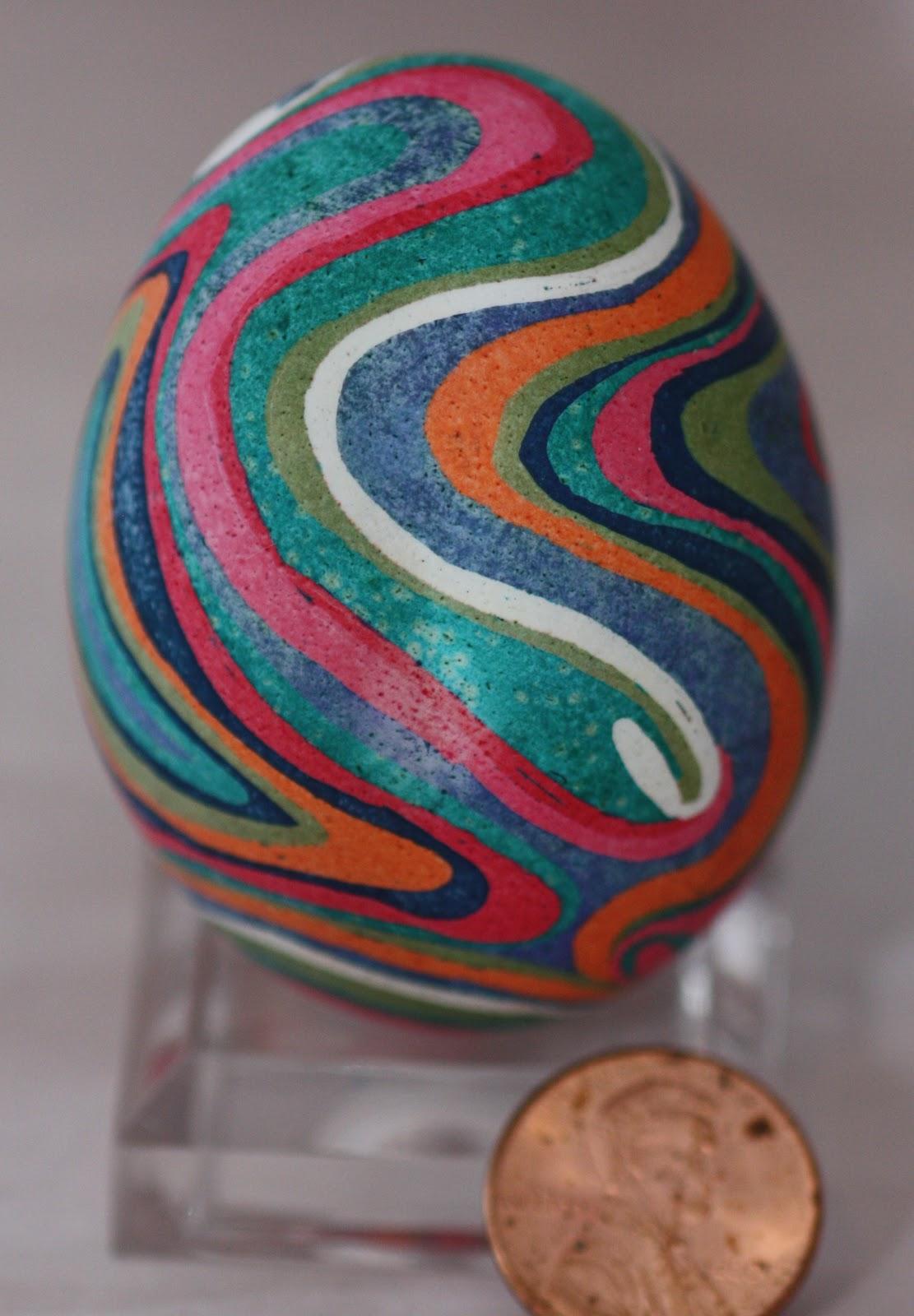 Agate Inspired Pysanky Ukrainian Egg