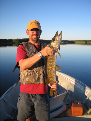 Life vest worn by northern pike fisherman