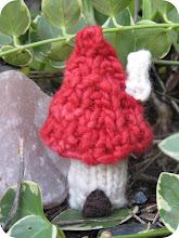 How to Knit a Mushroom Fairy House