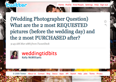 weddingtidbits question on twitter