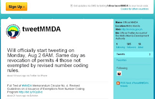 MMDA Twiiter Account