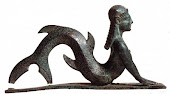 Ancient Bronze Moldings of Mermaid