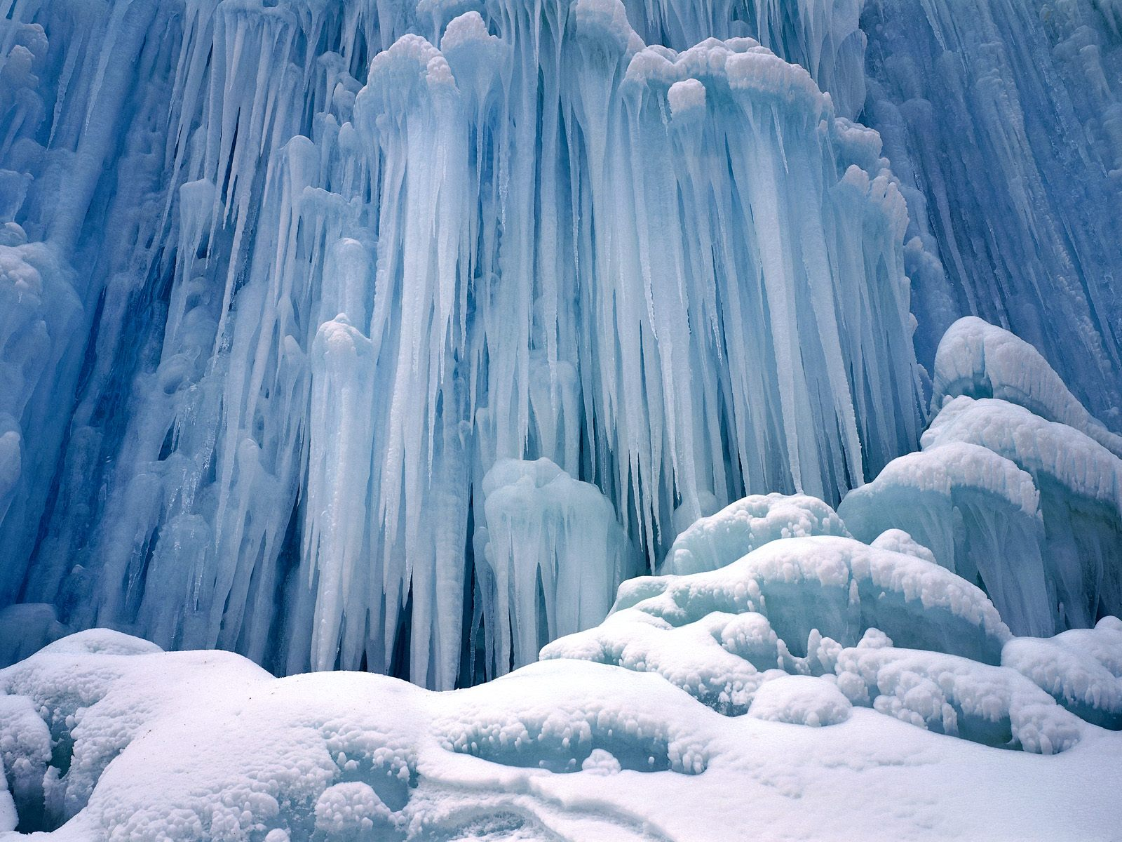 Frozen waterfalls. .