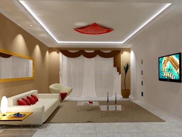 Sancas De Gesso Para Sala De Estar ~ Gesso Acartonado (Draywall) Tharhu  Decoração & Iluminação