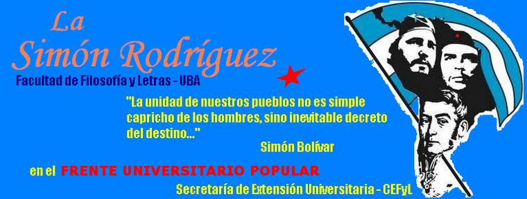 La Simón Rodríguez ::: FFyL - UBA
