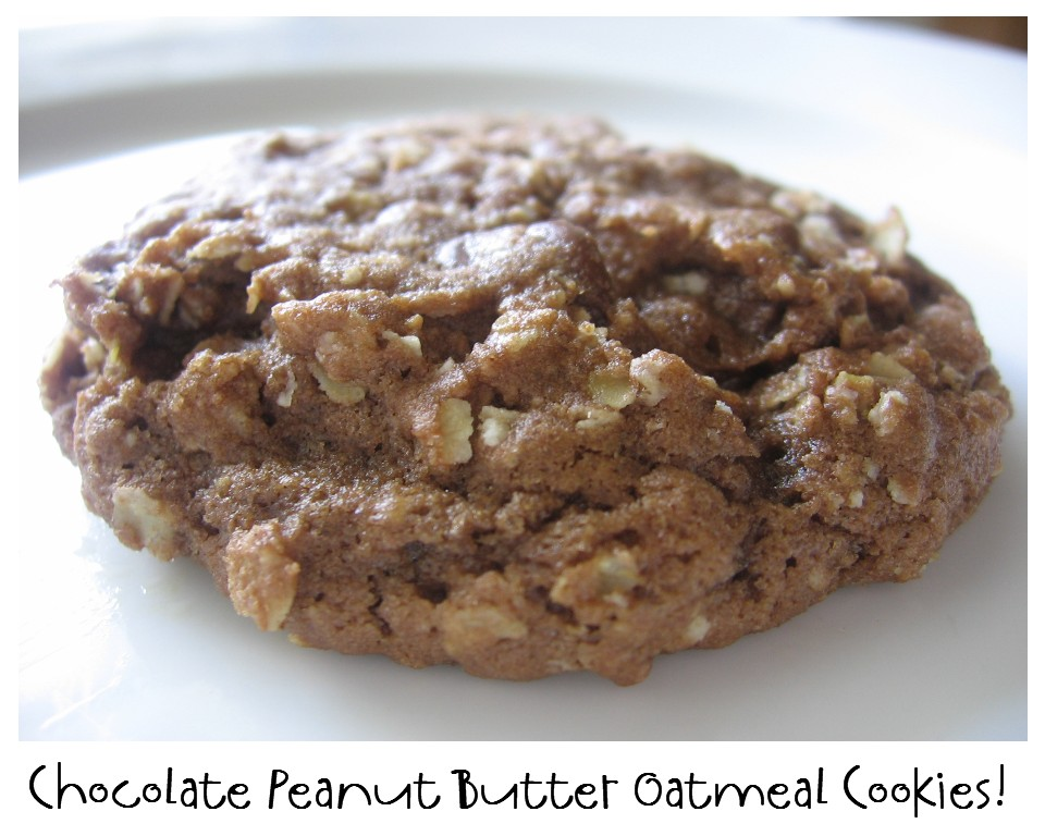 ... NOT Scared!: Mix Recipe #24: Chocolate Peanut Butter Oatmeal Cookies
