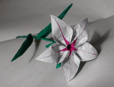 present: origami lily | meglepi: oriami liliom