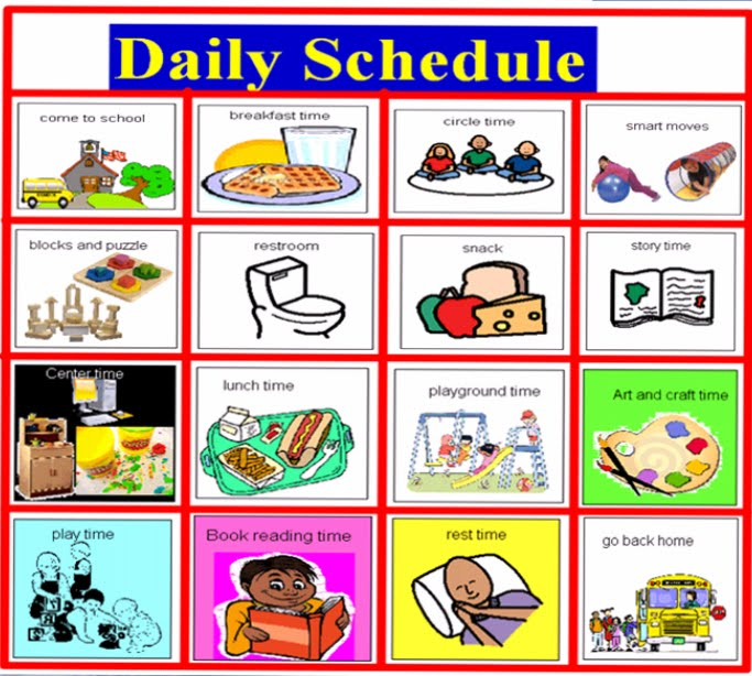 blank daily schedule template. lank daily schedule template.