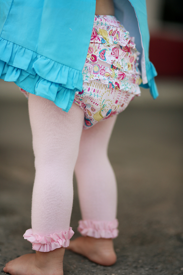 Ruffle Butts is an American apparel company specializing in baby bloomers and diaper covers. Originally created as a cute and modern version of the ruffled bottom diaper cover or bloomer, Ruffle Butts has grown to also include dresses, skirts, trendy tops, swimwear, legwear, and more.