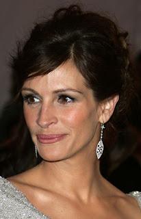 A Closeup Of Julia Roberts In Cathy Waterman Earrings
