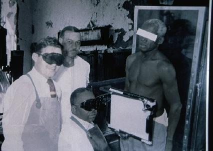 En el estudio en Tuskegee, se estudiaba la evoluci?n de la s?filis sin tratar en varones negros de Alabama. Fotograf?a publicada por The Baltimore Sun