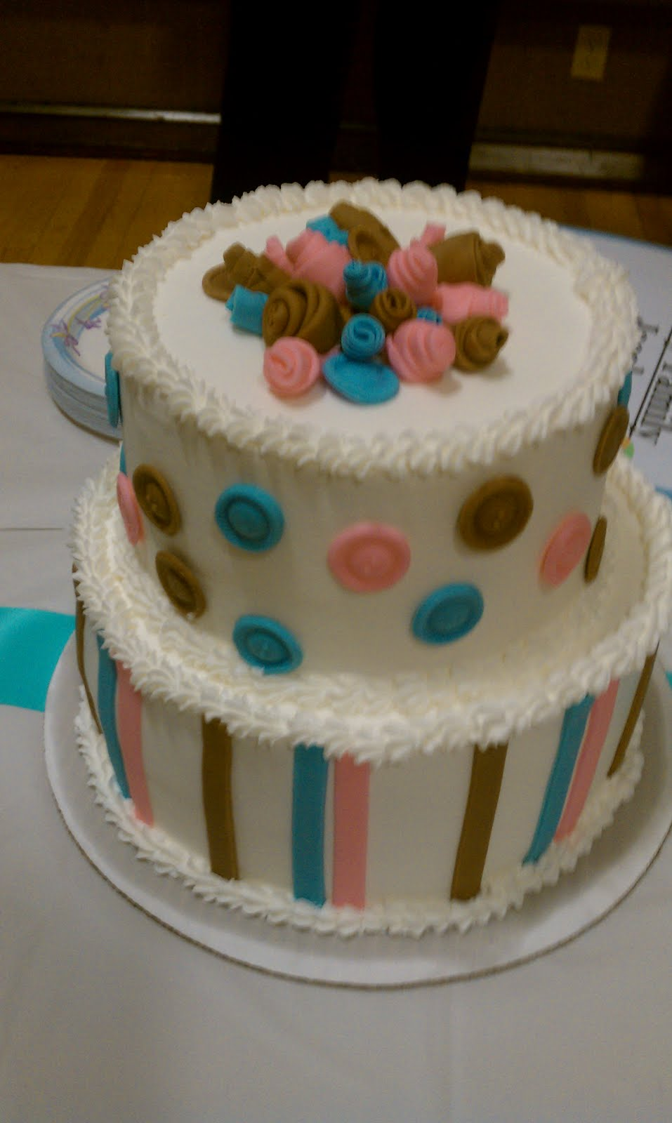 kerricakes cute as a button baby shower cake
