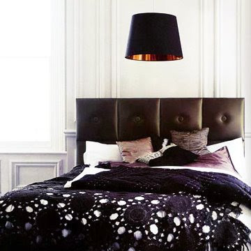 Black bedroom purple and gold touches in Purple and gold bedrooms
