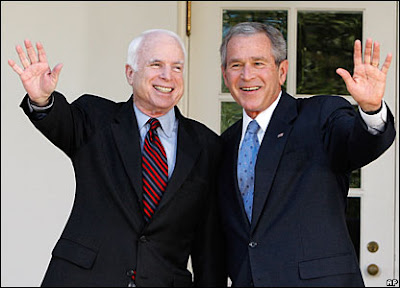mccain and bush