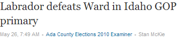 Labrador Defeats Ward