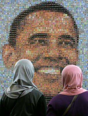 Obama mosaic, with Muslins!