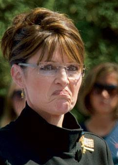 Palin pouting
