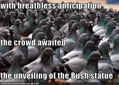 George Bush (statue) fans
