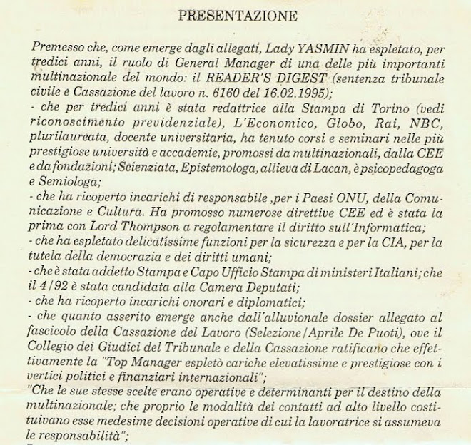 Curriculum dalle Sentenze di Cassazione pubblicate