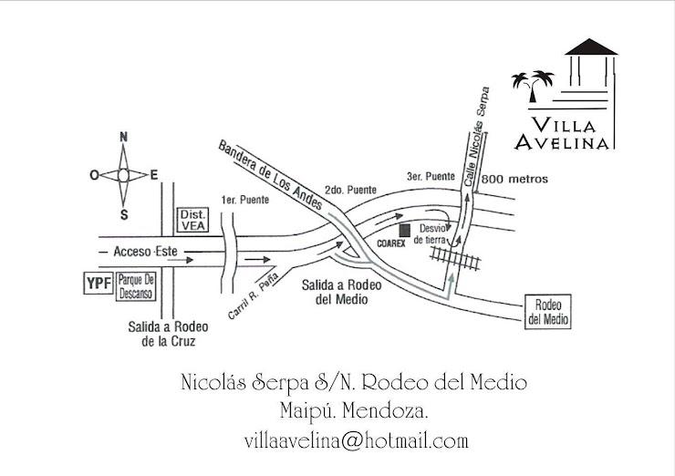 ¿Como llegar a Villa Avelina?