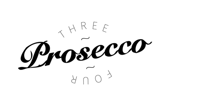 three prosecco four