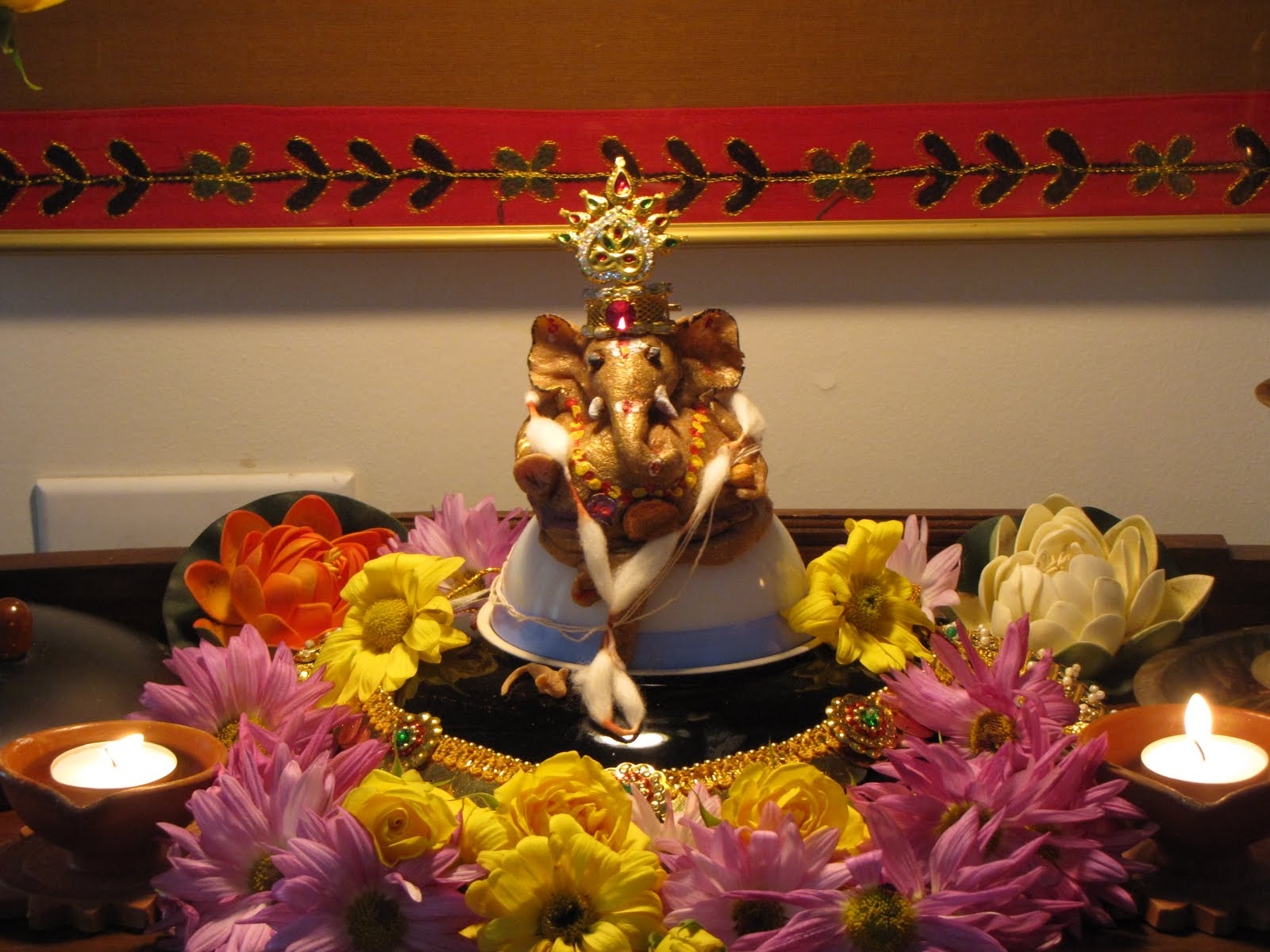simple home decoration for ganesh chaturthi best home decor 2018