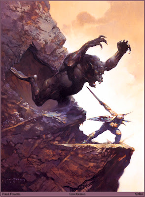 Frazetta Cave Demon