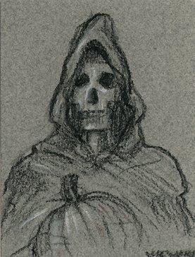 Halloween Reaper ACEO Sketch
