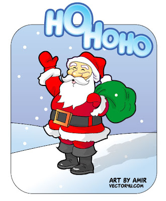 pictures of cartoon santa claus