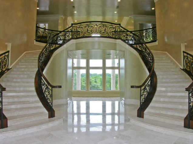 Beautiful Double Curved Staircases In Texas Luxury