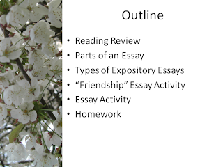 english communications  lecture 4 introduction to expository essays
