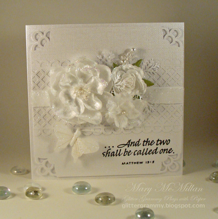 Glitter Grammy Plays With Paper Jessica And Uriahs Wedding Card