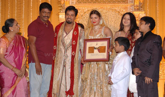 Rambha wedding reception stills