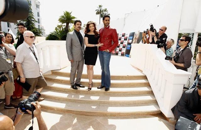 Abhishek Bachchan, Aishwarya Rai Bachchan and Vikram promote Mani Ratnam's 'Raavan' at Cannes Film Festival