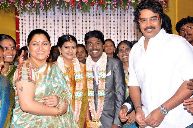 Vasanth Vijay wedding reception stills 5