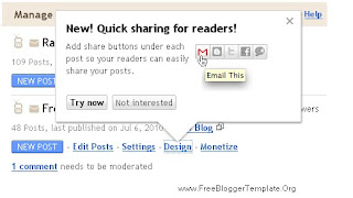 blogspot quick sharing
